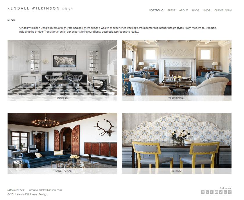 Những mẫu thiết kế website kiến trúc nội thất đẹp