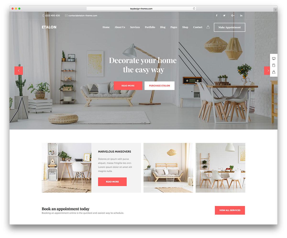 thiết kế website kiến trúc nội thất