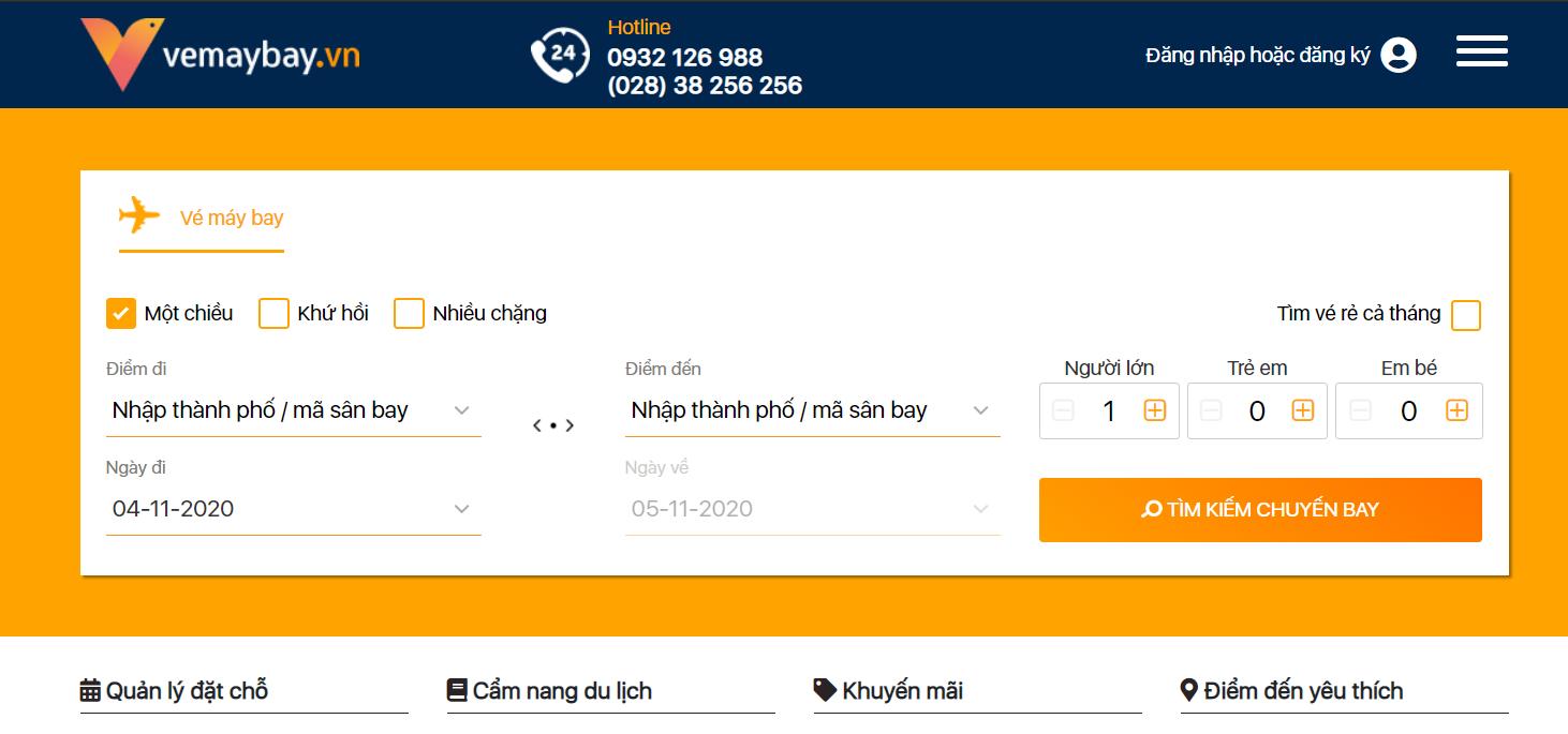 Website vé máy bay